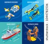 undersea depths research... | Shutterstock .eps vector #1044782536