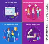 vaccination immunity cartoon... | Shutterstock .eps vector #1044782683