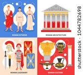 ancient rome 4 flat icons... | Shutterstock .eps vector #1044782698