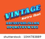 vintage serif font. 3d letters... | Shutterstock .eps vector #1044783889