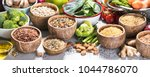 health food concept with... | Shutterstock . vector #1044786070