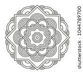 beautiful mandala shape for...   Shutterstock .eps vector #1044789700
