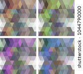 colorful seamless mosaic... | Shutterstock .eps vector #1044790000