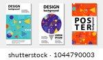 trendy memphis style template... | Shutterstock .eps vector #1044790003