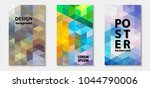trendy colorful mosaic template ...   Shutterstock .eps vector #1044790006