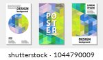 colorful  mosaic template... | Shutterstock .eps vector #1044790009