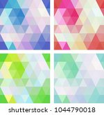 colorful seamless mosaic... | Shutterstock .eps vector #1044790018