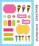 cute scrapbook elements... | Shutterstock .eps vector #104479598