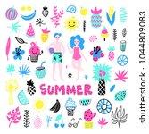 summer vector elements... | Shutterstock .eps vector #1044809083