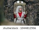 beauiful georgian woman wearing ...   Shutterstock . vector #1044812506