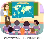 illustration of stickman kids... | Shutterstock .eps vector #1044813103