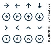 arrow ui line icon set. vector...