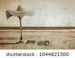 old photo beautiful seashore... | Shutterstock . vector #1044821500
