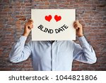 young man prepared for a blind...   Shutterstock . vector #1044821806