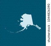 map of alaska | Shutterstock .eps vector #1044826390