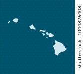map of hawaii | Shutterstock .eps vector #1044826408