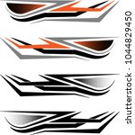 vehicle graphics  stripe  ... | Shutterstock .eps vector #1044829450