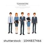 business group people teamwork... | Shutterstock .eps vector #1044837466