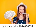 close up portrait of cheerful ... | Shutterstock . vector #1044838339