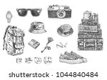 travel set. hand drawn... | Shutterstock .eps vector #1044840484