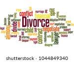 Divorce Word Cloud Concept On...