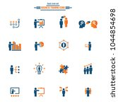 business training icon set | Shutterstock .eps vector #1044854698