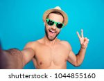 self picture of naked ... | Shutterstock . vector #1044855160