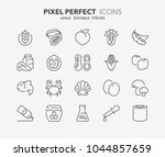 thin line icons set of food... | Shutterstock .eps vector #1044857659
