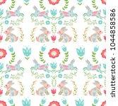 easter concept seamless pattern.... | Shutterstock .eps vector #1044858586