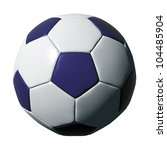 Blue Leather Soccer Ball...