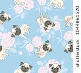 vector seamless pattern with...   Shutterstock .eps vector #1044861520