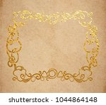 vintage old paper texture with... | Shutterstock .eps vector #1044864148