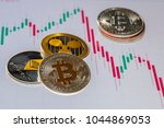 cryptocurrency coins over... | Shutterstock . vector #1044869053