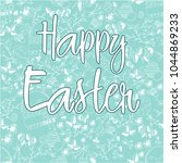 happy easter greeting card with ... | Shutterstock .eps vector #1044869233