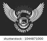 race retro vintage emblem with... | Shutterstock .eps vector #1044871000
