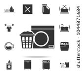 linen in the basket and washing ... | Shutterstock .eps vector #1044871684