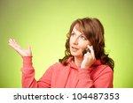 portrait of beautiful woman... | Shutterstock . vector #104487353