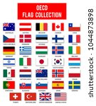 oecd members flag collection  ... | Shutterstock .eps vector #1044873898