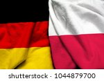 germany and poland flag together | Shutterstock . vector #1044879700