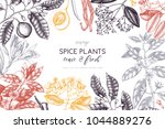 vector card design with hand... | Shutterstock .eps vector #1044889276