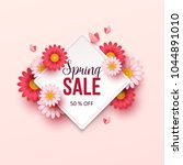 spring sale background with... | Shutterstock .eps vector #1044891010