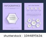 let's get started infographics...   Shutterstock .eps vector #1044895636