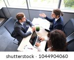 job interview with the employer ... | Shutterstock . vector #1044904060