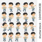 cartoon character asian boy in... | Shutterstock .eps vector #1044904438