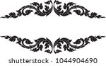 swirl doodle floral wings... | Shutterstock .eps vector #1044904690