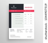 creative invoice template... | Shutterstock .eps vector #1044907519