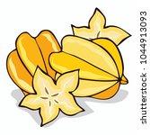 isolate ripe starfruit or...   Shutterstock . vector #1044913093