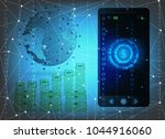 smartphone screen checking... | Shutterstock . vector #1044916060