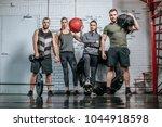 group of sportsmen and... | Shutterstock . vector #1044918598