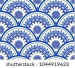 blue and white porcelain...   Shutterstock .eps vector #1044919633